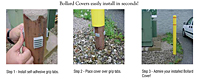 Bollard Post Guard Covers - 5